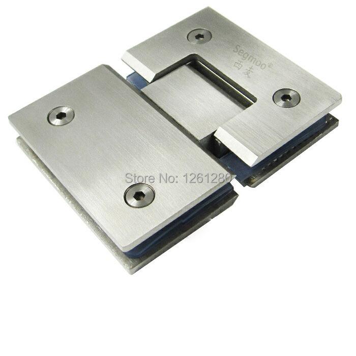 free shipping door hinges solid stainless steel hinge 180 degrees  bathroom bi-open glass door hinge hardware<br><br>Aliexpress