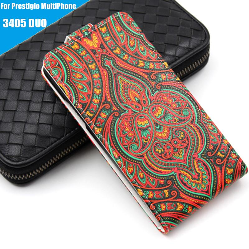 Leather case Wallet style cover Flip Telephone Holder and Cell phone shell For Prestigio MultiPhone 3405-Duo Mobile phone bag(China (Mainland))