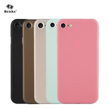 sfor iPhone 7 Plus Case Benks Ultra Thin 0.4mm Light Transparent Frosted Cover Case for iPhone 7 4.7'' / 7Plus 5.5''(China (Mainland))