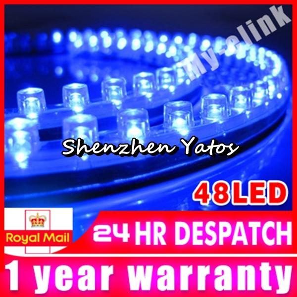 5pcs 48cm 48 SMD LED Flexible Strip Linear PVC Light Car Van 12V Waterproof(China (Mainland))