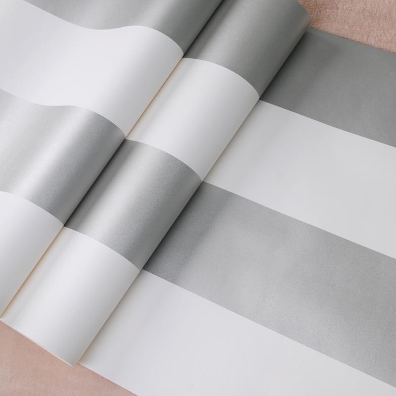 Popular horizontal striped wallpaper buy cheap horizontal for Cheap plain grey wallpaper