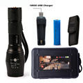 LED CREE XM L2 T6 Flashlight 6000Lumens Torch 5modes Light Zoomable Tactical Flashlight Lamp 1 18650
