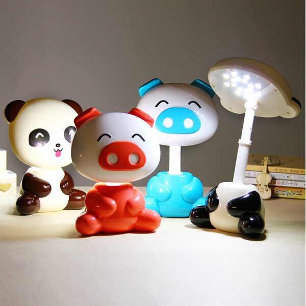 Cartoon panda pig leuke eye lamp led oplaadbare leeslamp kinderen kids gift kantoor lichten in - Kantoor leefgebied kind ...