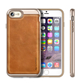 For iPhone 7 Case Genuine Leather Soft TPU PC and Genuine Leather Textured Cover Dual