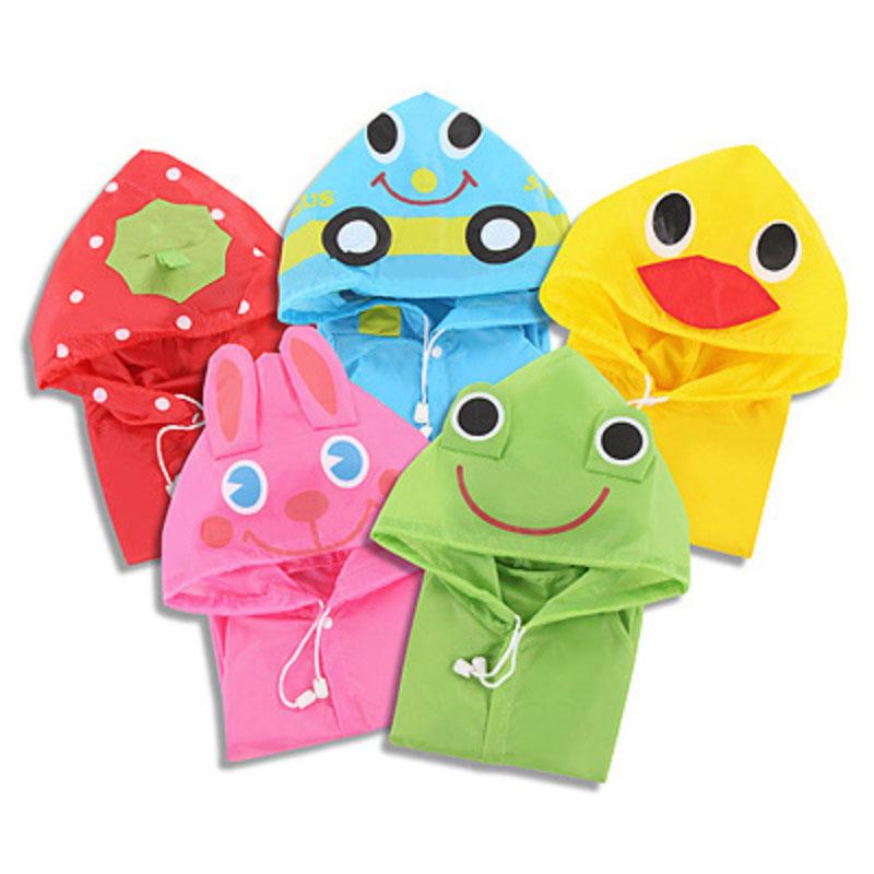 30PCS/lot New Kids Rain Coat children Raincoat Rainwear Kids Waterproof Animal Raincoat(China (Mainland))