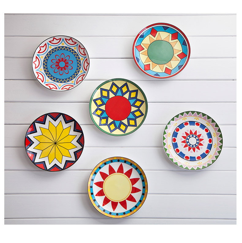 And Creative For Household Dish Of Ceramic Dish Plate Hanging Wall Hangings, Western Dessert Dish, Bakeware Decorative Plate(China (Mainland))