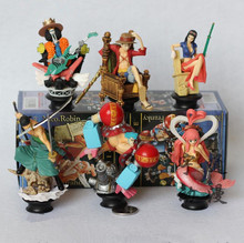 Buy Anime One Piece Chess Piece 6Pcs/Set Luffy Franky Zoro BROOK Robin Collection PVC Action Figure Model Brinqeudo Collectibles toy for $24.86 in AliExpress store