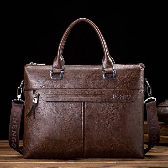 2016 кенгуру мужчины сумку мужская кожаный портфель бизнес плеча сумки портативный ...