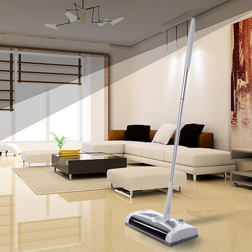 Rechargeable 2 in 1 Swivel Cordless Vacuum Automatic Mop Floor Sweeper Cleaner Household Handheld Drag Sweeping Machine 100-240V(China (Mainland))