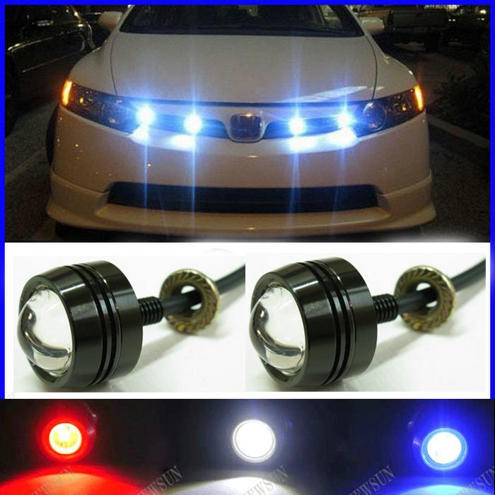 Super Thin Car LED Fog Reverse Light,Newest Eagle Eye White Light Daytime Running Tail Backup Motor - NEWM Autolight Store store
