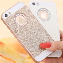 5S Fundas Cute Candy Glitter Bling Crystal Diamond Back Cover For Apple iPhone 5 5S 5G Hard Phone Cases(China (Mainland))
