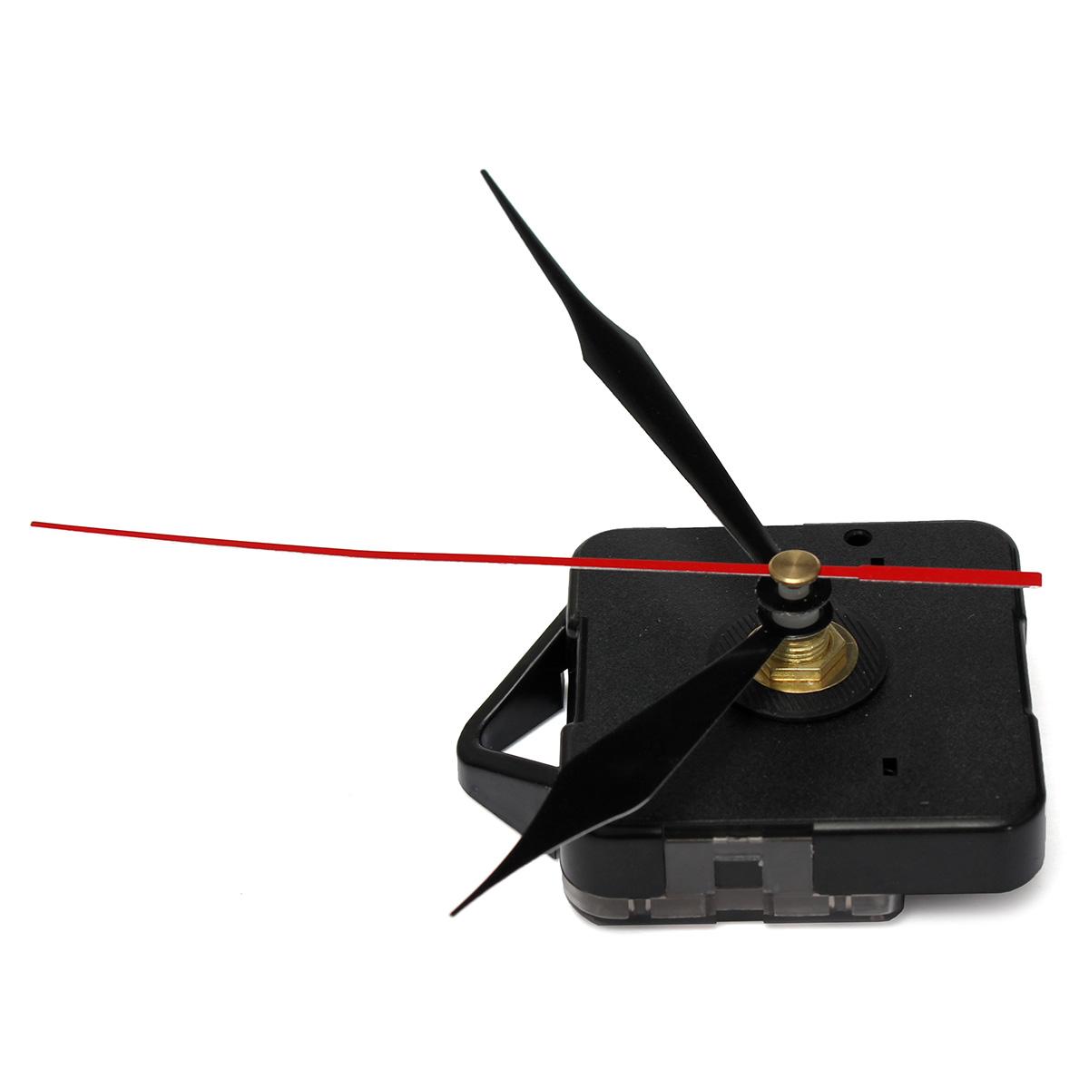High Quality Quartz Clock Wall Movement Mechanism Black + Red Second Hand Repair Part Kit DIY(China (Mainland))