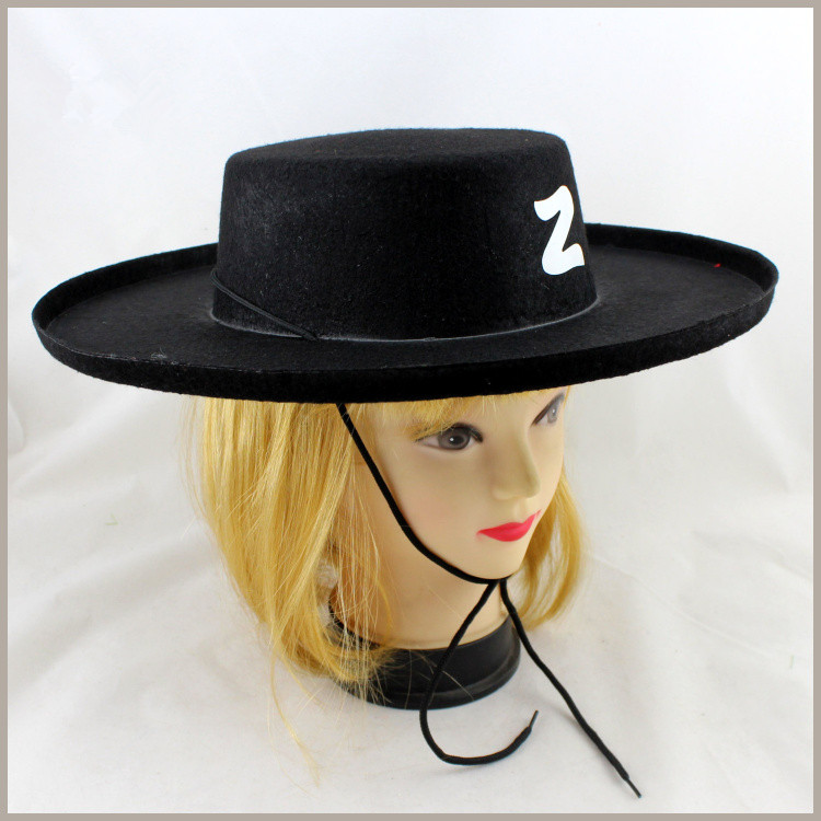 2016 New Halloween Party Supplies Cowboy Cap Hat Halloween Masquerade Stage Props Children's Day Cosplay Kids Gift 5pcs/lot(China (Mainland))