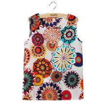 Casual Women Girl Chiffon Sleeveless Crew Vest Tank Tops Blouse T-Shirt  Camisole Shirt Plus Size Ropa Mujer Hot  Selling(China (Mainland))