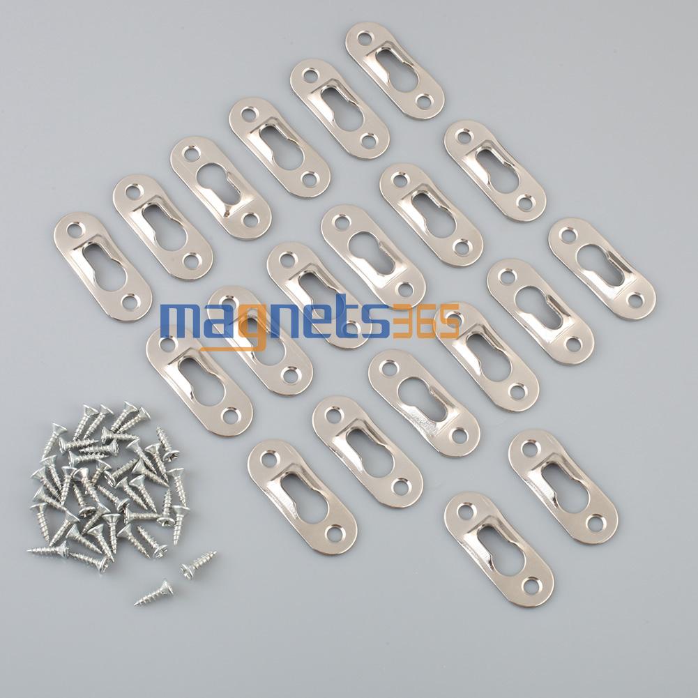 20Pcs 42mm x 16mm Frame Mirrors Cabinet Metal Keyhole Hanger Shelfs 2-Hole Flat(China (Mainland))
