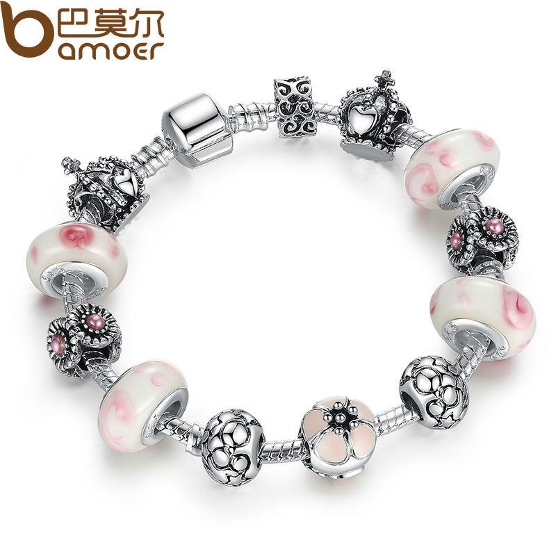 Charm bracelet for women beads jewelry fit original pandora bracelets