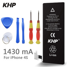 100% Original Brand KHP Phone Battery For iphone 4S Real Capacity 1430mAh With Machine Tools Kit Mobile Batteries(China (Mainland))