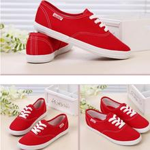 Hot Selling Decreased By 50% Women Casual Shoes Ladies Candy Color Flat Shoes With Non-slip Cow Muscle Multicolor Canvas Shoes