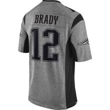 Cheap #12 Brady Men's #87 Gronkowski High quality 100% Stitched Logos Gray Gridiron Gray Limited Free shipping(China (Mainland))