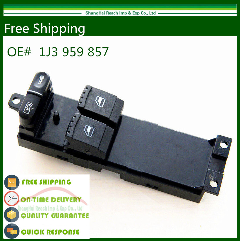 (US STORE) New Master Panel Power Window Switch For VW Golf MK4 2 Door Left Driver Side 1J3 959 857 1J3959857B(China (Mainland))