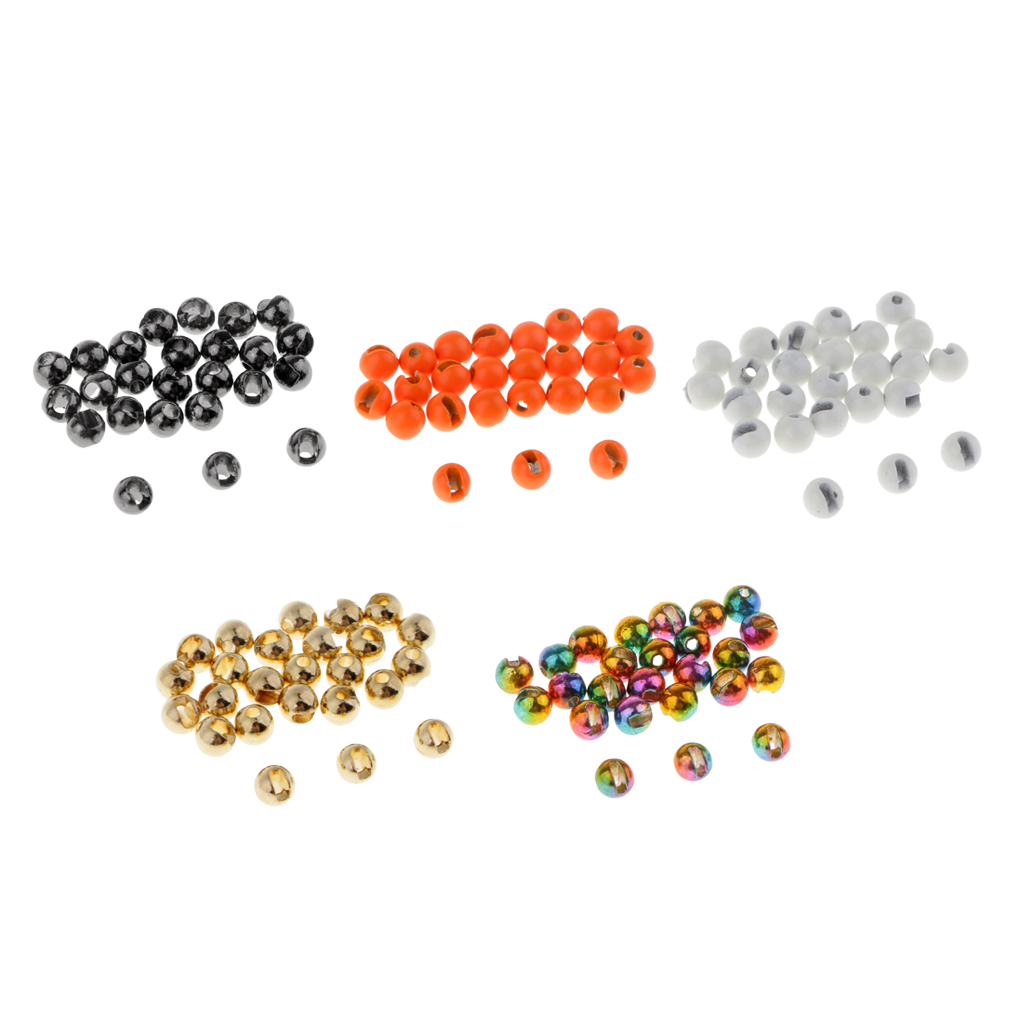 25 Slotted Tungsten Fly Tying Beads Size 2.8 mm