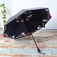 Buy New Umbrella Sunny Rainy Umbrellas 3D Flowers Printed Three-folding Umbrella Lady Sun Umb 58*8k Hot Selling for $7.78 in AliExpress store