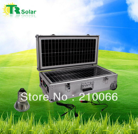 solar portable small system 40w indoor solar home light system with led fast charger for mobile iphone ipad laptop outdoor trip