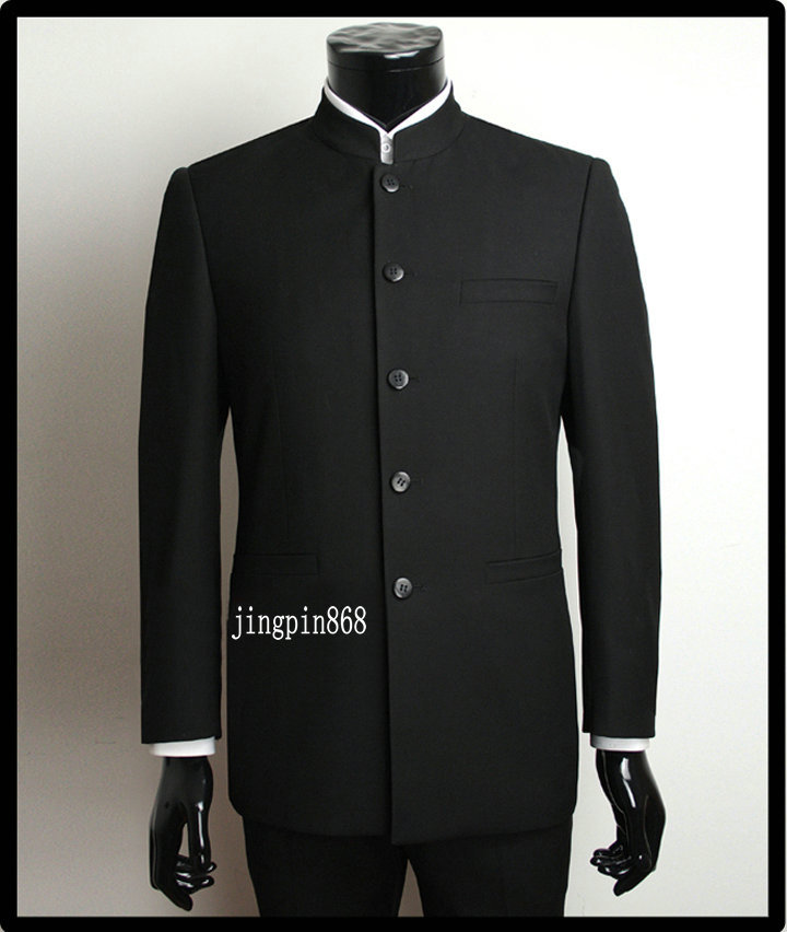 stehkragen schwarzes stehkragen anzug chinese tunika anzug