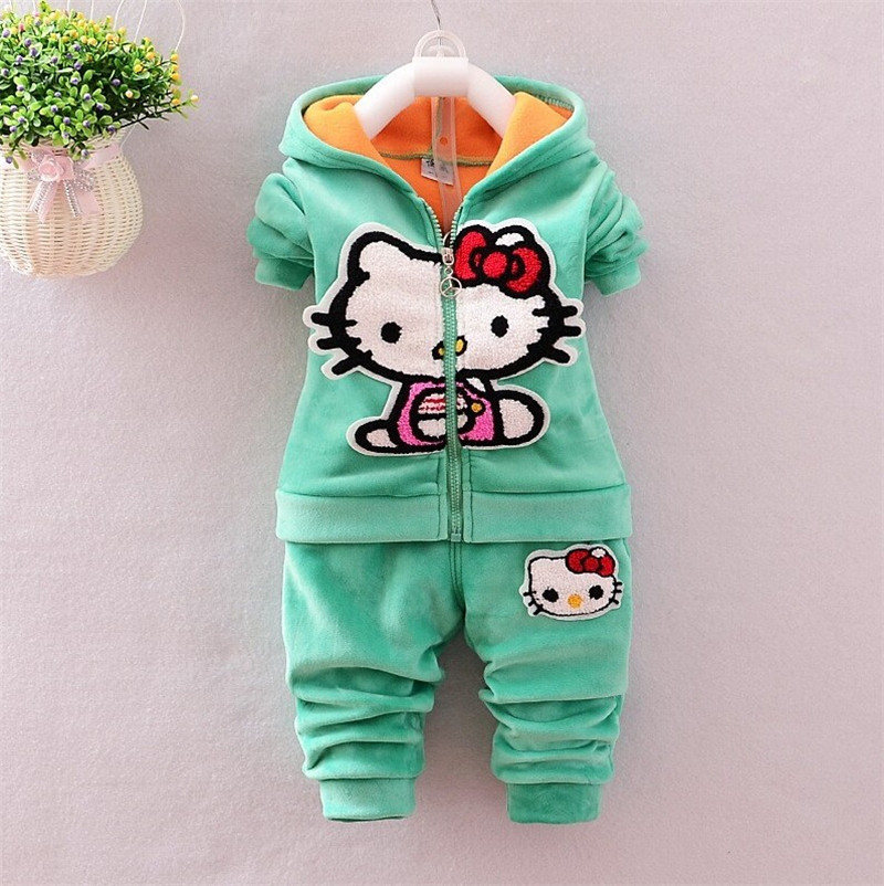 Fashion Baby Girls Clothing Set Winter Children Clothes Two-pieces Kid Thick Warm Sport Clothing Set for winter girls baby(China (Mainland))