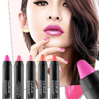New Brand High quality makeup beauty Lipstick High Gloss Lip Color Lip Crayons Lip Tint 6 Colors Optional(China (Mainland))