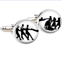 Buy 1 pair Free Groom Cufflinks Wedding Day Decisions Groom handmade mine cuff links custom wedding cufflinks for $1.45 in AliExpress store