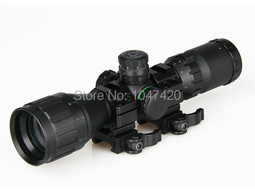 3 9x32 green and red illuminated tactical airsoft gun riflescope shooting hunting equipment with 10mm or