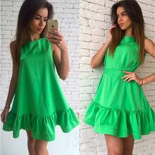 Buy 2XL Hot 2017 New Ruffles Beach Women Dress Summer Sleeveless Casual Line Bodycon Party Dresses Ladies Mini Sexy Dress Vestidos for $5.66 in AliExpress store