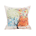 2016 New Arrival Comfortable Sofa Pillow Cover Tree Pattern Printed Home Decorative Cotton Linen Sofa Cushion