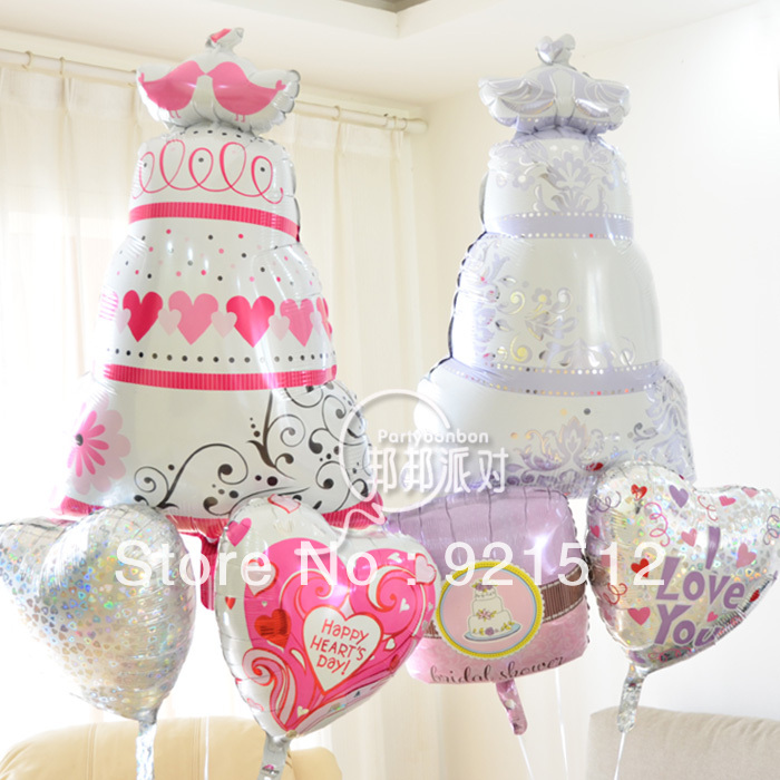 Anagram foil balloons valentine 39 s day wedding cake for Wedding day room decoration