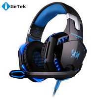 EACH G2000 Over-ear Game Gaming Headset Earphone Headband Headphone with Mic Stereo Bass LED Light for PC Game