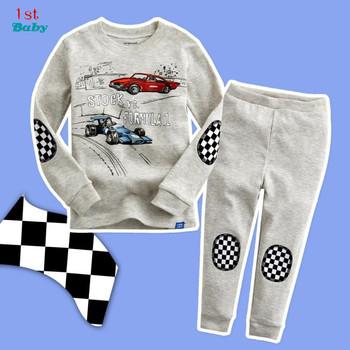 Boy suit cotton t-shirt + pants new children's cartoon children's long-sleeved tracksuit suit pajamas at home
