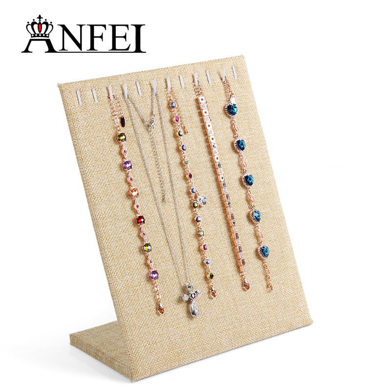 Free Shipping Jewelry Stand Necklace Jewelry Display Shelf Jewelry Organizer Stand For Jewelry Rack Lightly Browned Wholesale(China (Mainland))