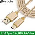 Leebote 1m 2m 3m USB Type C cable USB C Charger Cable for Huawei p9 OnePlus