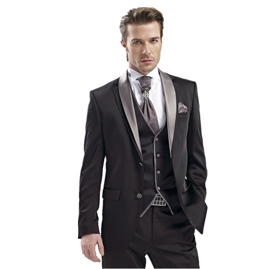 Trajes de novio 2015 hombre (Jacket+Pants+Tie+Vest)terno men suit latest coat pant designs ...
