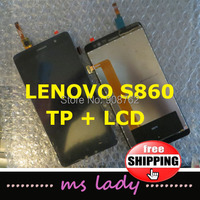 New Original LCD Display + Digitizer Touch Screen TP Panel Glass Assembly FOR LENOVO S860 Free shipping + Tracking code