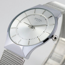 Fashion Top Luxury brand JULIUS Watches men Stainless Steel Mesh strap Quartz-watch Ultra Thin Dial Clock man relogio masculino