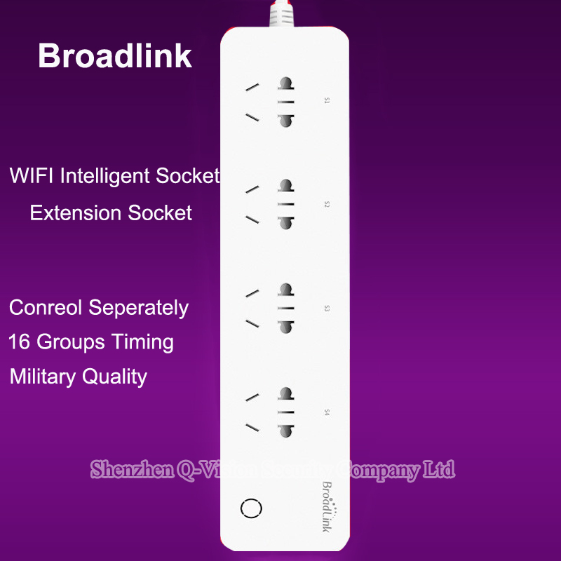 BroadLink Original Smart Home Plug and Play WiFi Power Strip Remote Control available 4-Outlet Power Socket Automation System(China (Mainland))