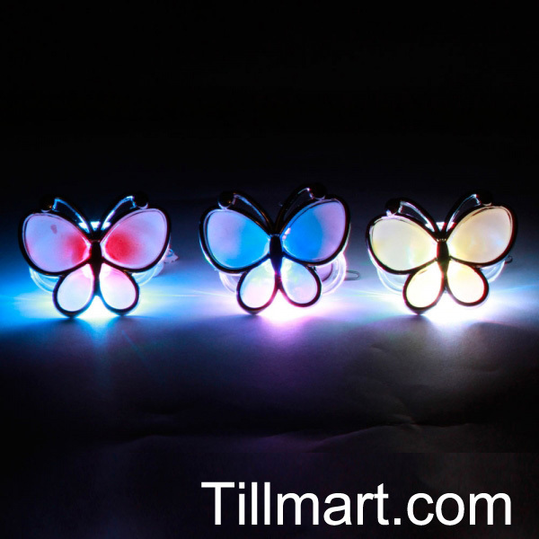 Free shipping on sale High quality Flash Butterfly Hairpin  handicraft Christmas Party Decoration