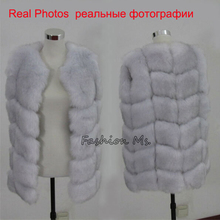 New 2014 Winter Coat Women Fashion Import Overcoat Whole Peel Fox Fur Vest High-Grade Cappa Fur Coat Leisure Shitsuke Women Coat