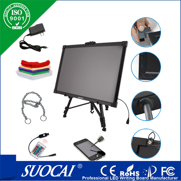 LED Writing Board 16X12 Inches Imported Acrylic Fluorescent Screen For Advertising Restaurant Bar Menu Art Eco-friendly(China (Mainland))