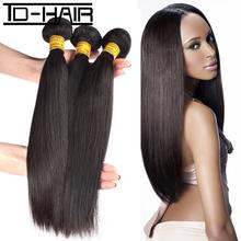 Top 9A Brazilian Virgin Hair Straight Remy Hair bundles Brazilian hair straight extension Bundles100% Unprocessed TD HAIR weaves(China (Mainland))