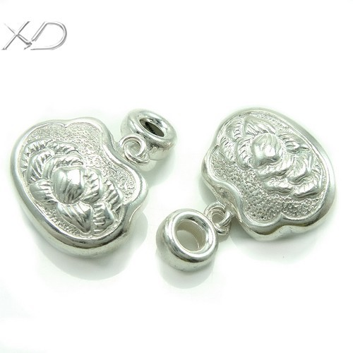 XD KM435 925 sterling silver flower lock charms for jewelry making<br><br>Aliexpress