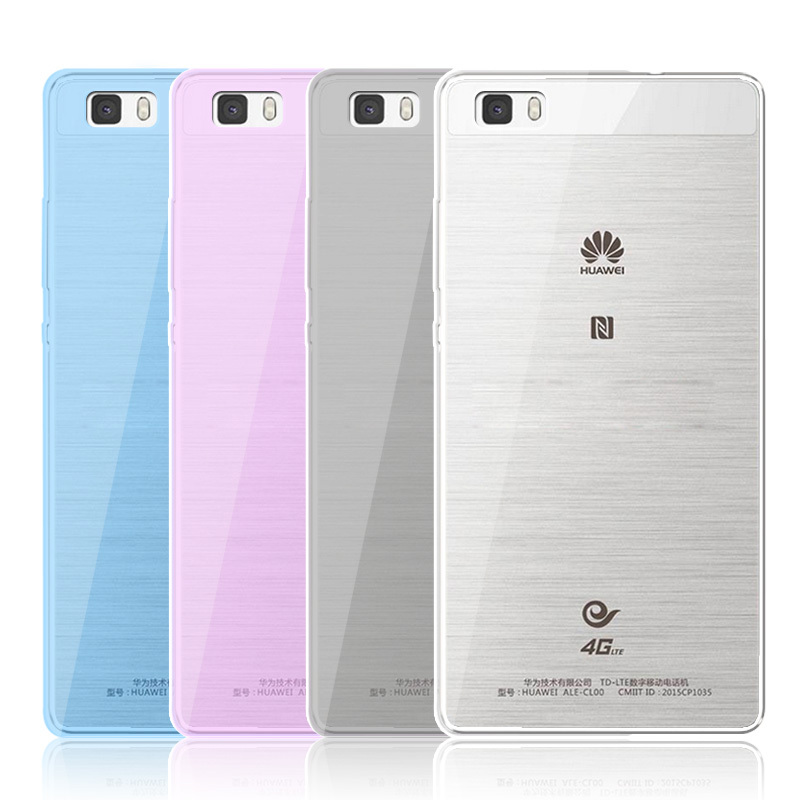 For Huawei Ascend P8 Lite Case Ultrathin Clear Dual Color Soft TPU Silicon Phone Cover Case Funda for Huawei P8 Lite P8 Mini 5.0(China (Mainland))