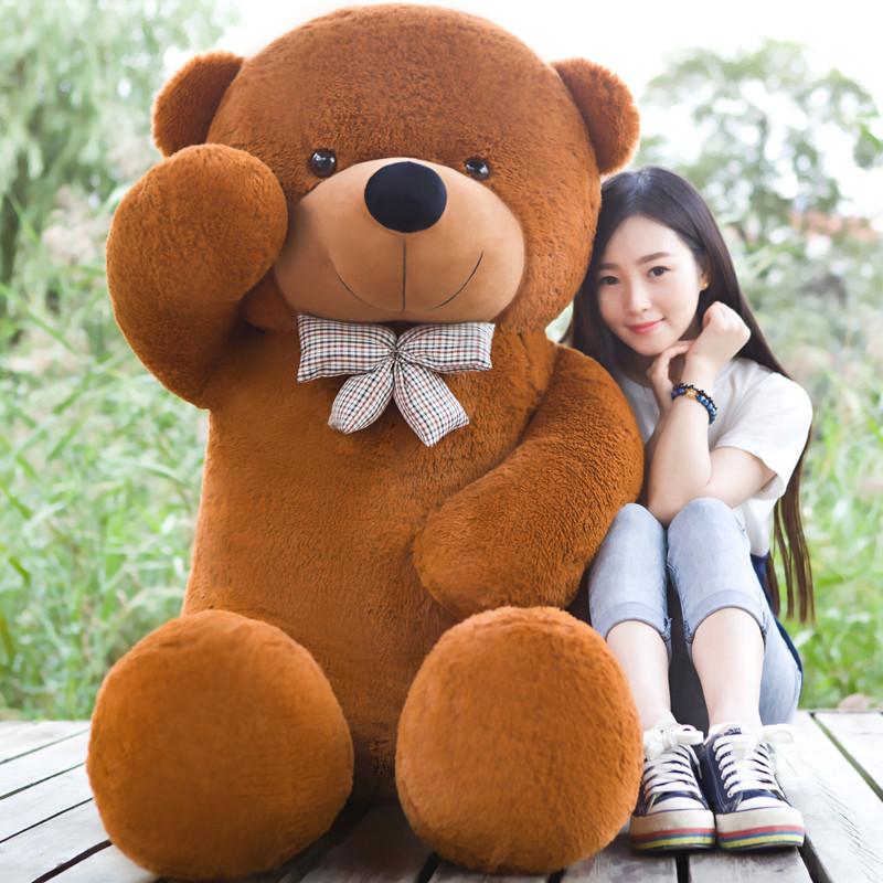 Giant teddy bear 200cm/2m large big stuffed toys animals plush life size kid children baby dolls girl Christmas valentine gift(China (Mainland))